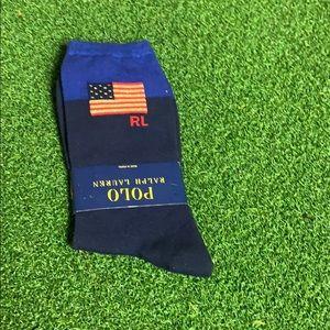 Ralph Lauren Polo Flag Crew Socks